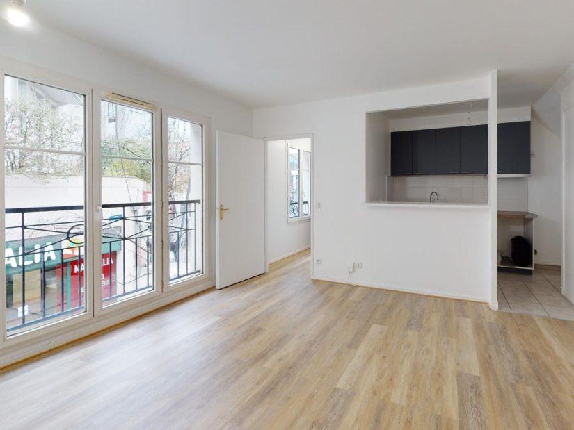 achat appartement maisons alfort: 2 pièces, pièce à vivre lumineuse avec cuisine ouverte