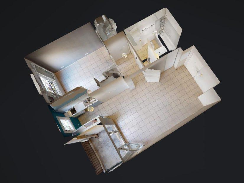 agence de location appartement: 2 pièces, plan détaillé, alfortville