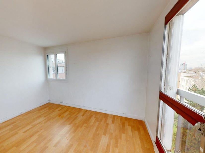 immo valerie: 4 pièces 85 m², 3° chambre à coucher, une fenêtre et 1 porte fenêtre