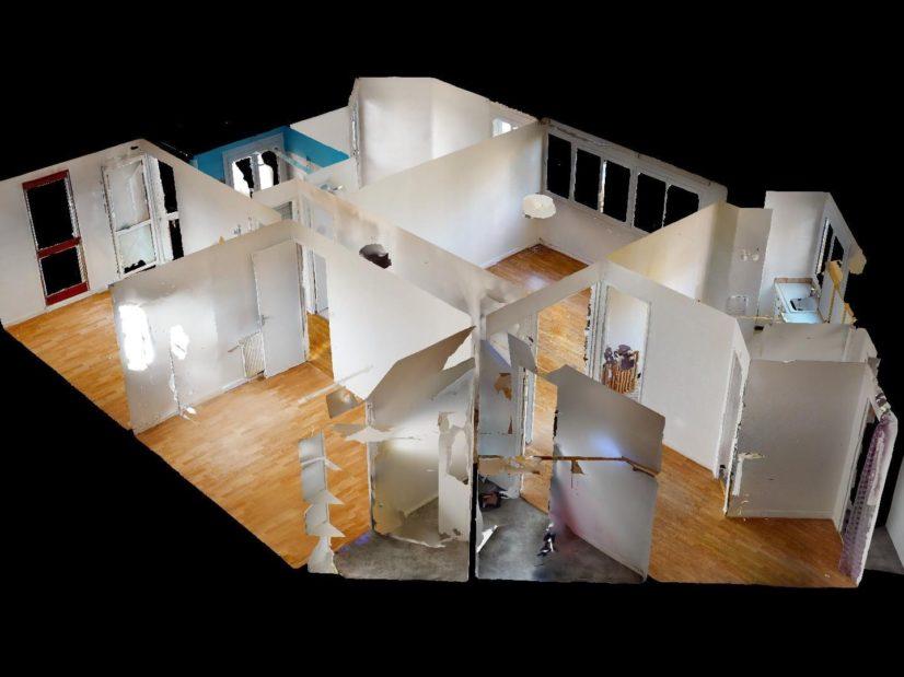 immobilier maison: 4 pièces 85 m², vue 3D de l'appartement