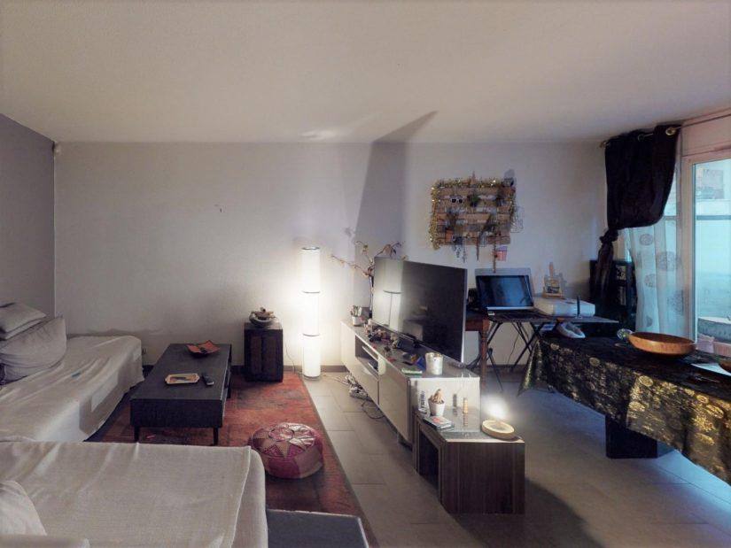 achat appartement alfortville: 2 pièces, séjour avec baie vitrée donnant sur balcon