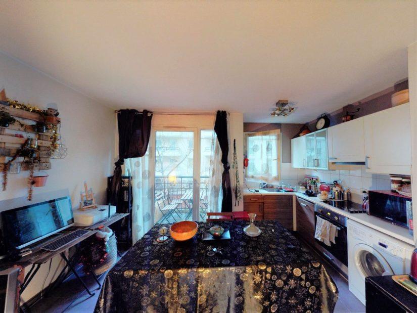 vente appartement 2 pieces alfortville: 2 pièces, cuisine ouverte, aménagée et équipée