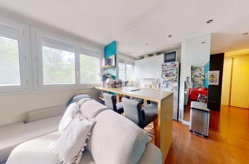 appartement charenton le pont: 3 pièces 50 m², cuisine ouverte sur séjour, proche métro et bois de vincennes