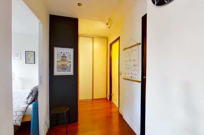 achat appartement charenton: 3 pièces 50 m², hall d'entrée avec armoire / penderie