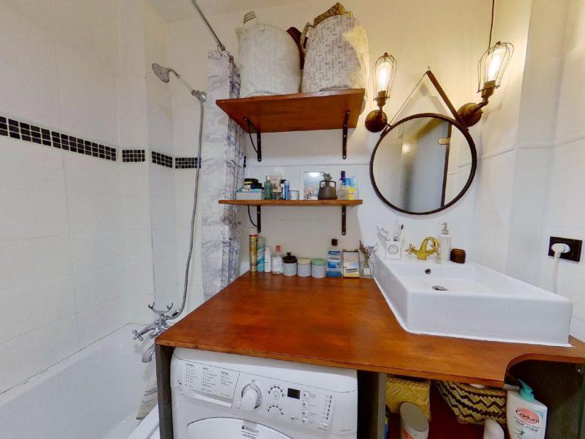 charenton vente appartement: 3 pièces 50 m², salle de bain avec raccordement lave-linge