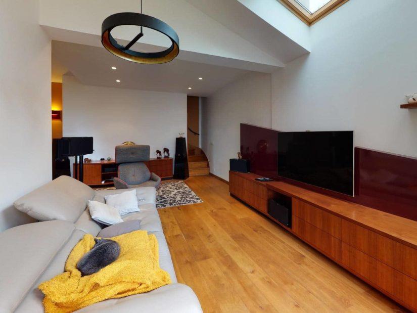 agence immobilière val de marne: 3 pièces 90 m², extension: séjour double, vélux, plafonnier