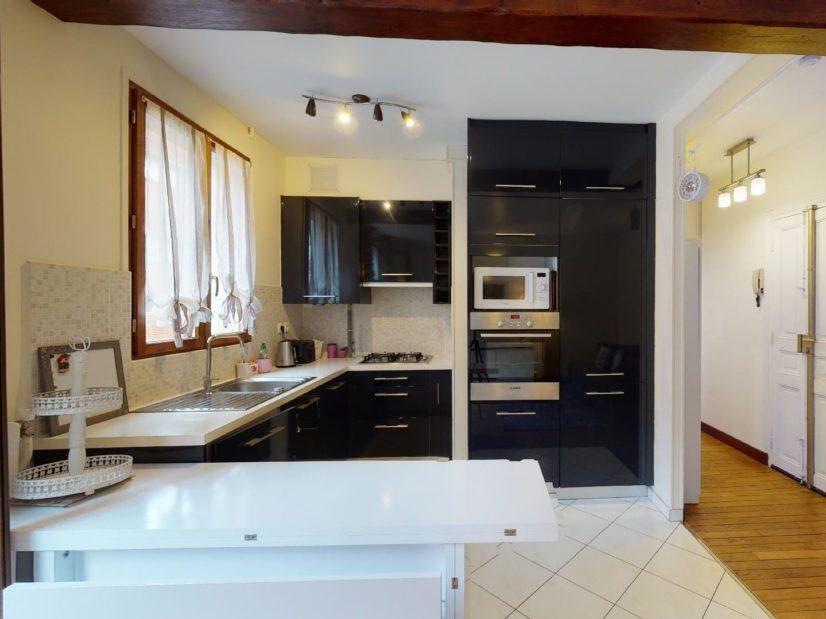 appartement alfortville location: 2 pièces meublé, cuisine moderne aménagée et équipée