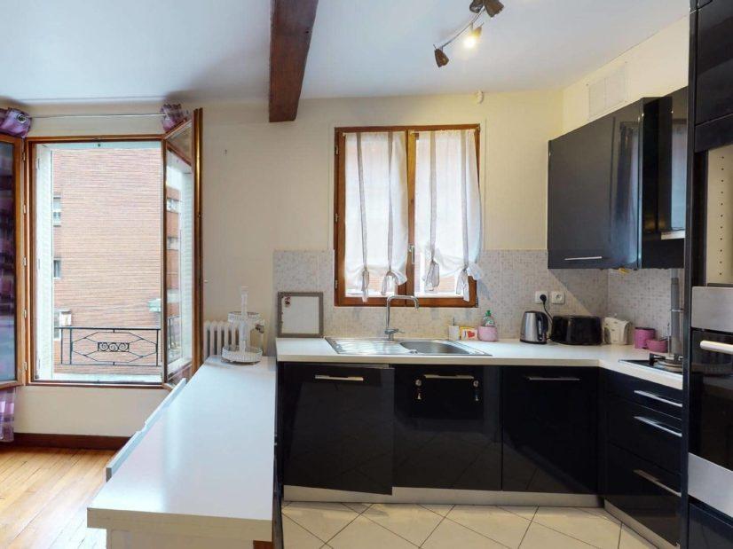 louer appartement alfortville: 2 pièces, cuisine équipée: lave-linge, plaques, four ...