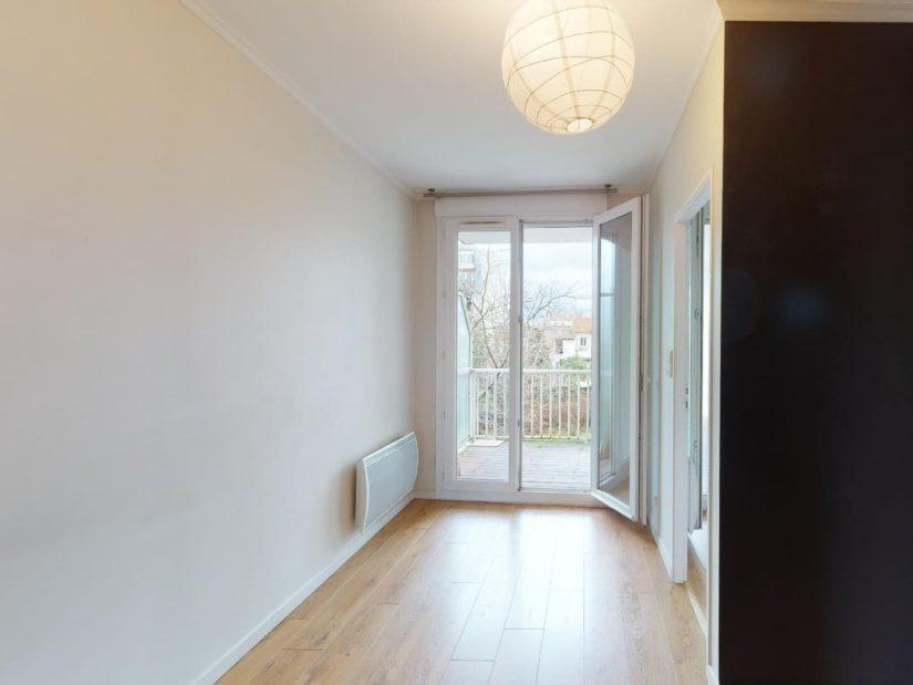 immo alfortville: 4 pièces 78 m², 3° chambre à coucher avec balcon, dressing
