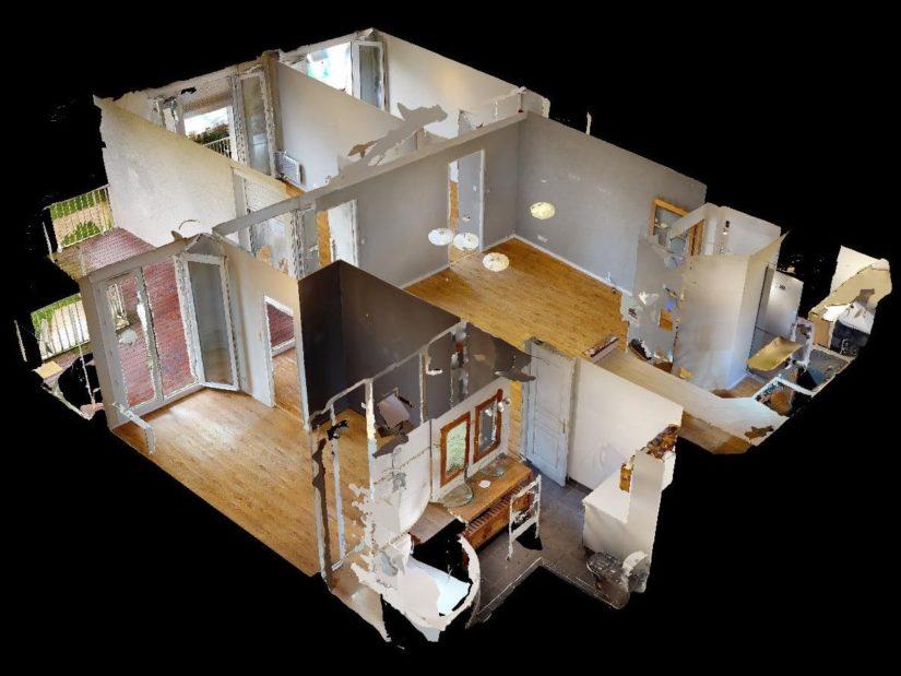 location par agence alfortville: 4 pièces 78 m², vue de l'appartement en 3d