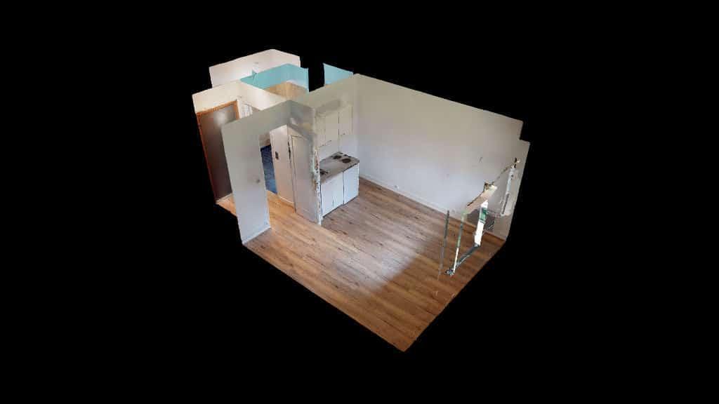 agence immo maisons-alfort: studio 20 m², plan de l'appartement en 3d
