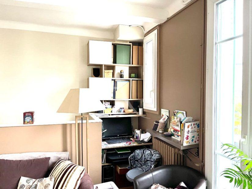 vente maison à maisons alfort: 4 pièces 74 m², séjour traversant avec son coin bureau