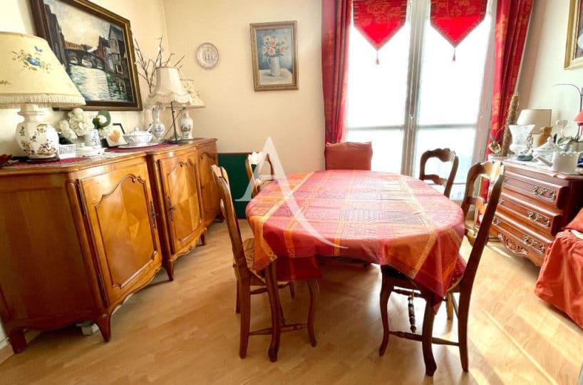 appartement à vendre maisons-alfort: grand 2 pièces 57 m², séjour avec balcon, vue sur parc, parking et cave