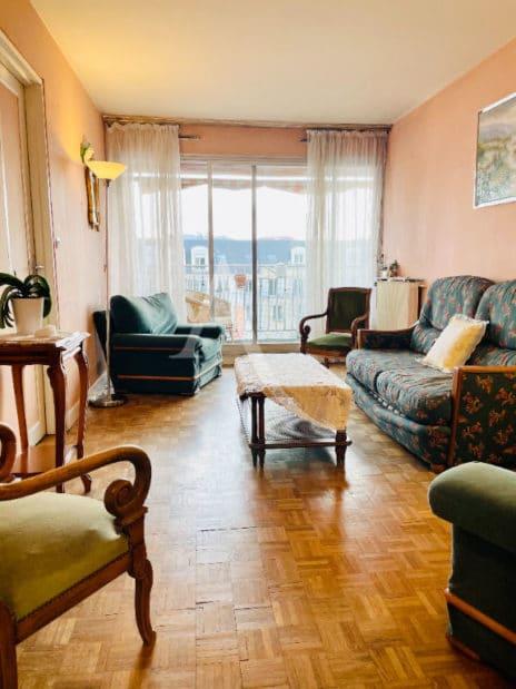 achat appartement charenton le pont: 5 pièces 84 m², beau séjour avec balcon, vue dégagée