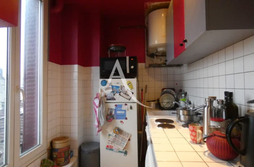 alfortville vente appartement: 2 pièces 32 m², cuisine, plaques, plan de travail, placards