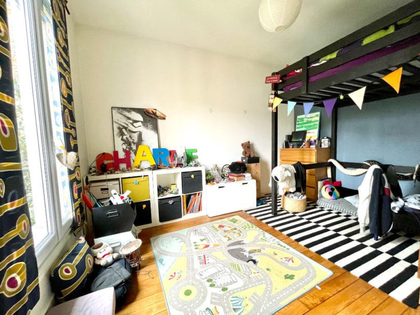 achat maison maisons alfort: 6 pièces 136 m², chambre à coucher avec lit mezzanine