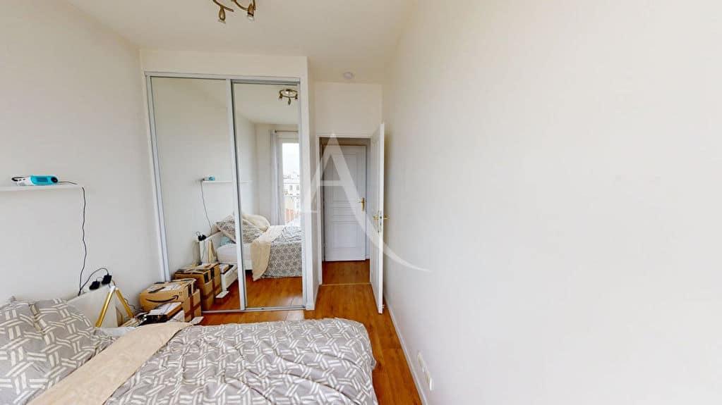 immobilier neuf alfortville: 2 pièces 38 m², chambre à coucher avec armoire / penderie