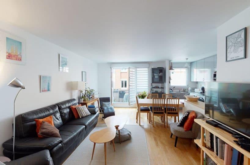 achat appartement alfortville: 4 pièces 92 m² en double exposition, séjour avec balcon, centre ville