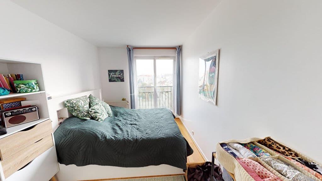 immobilier neuf alfortville: 4 pièces 92 m², 3° chambre à coucher, parquet au sol
