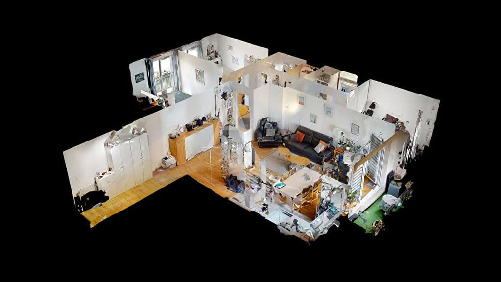 estimation appartement alfortville: 4 pièces 92 m² bien agencé, plan en 3d