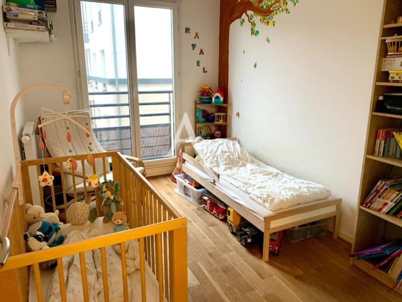 appartement à vendre maison alfort: 3 pièces 62 m², 1° chambre, 2 lits enfants, balcon