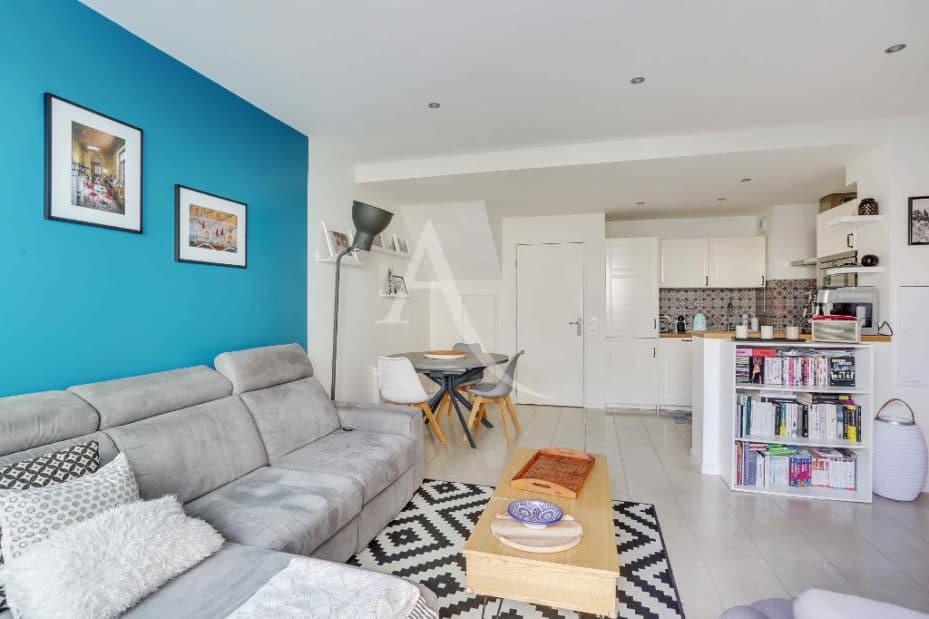 appartement a vendre alfortville: 3 pièces 71 m², séjour double avec cuisine ouverte