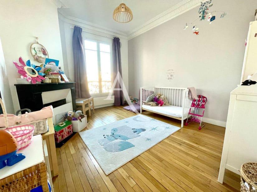 alfortville vente appartement: 3 pièces 55 m², 2° chambre à coucher, lit bébé barreaux