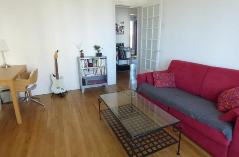 appartement alfortville: 3 pièces 55 m², salon avec parquet en chêne massif