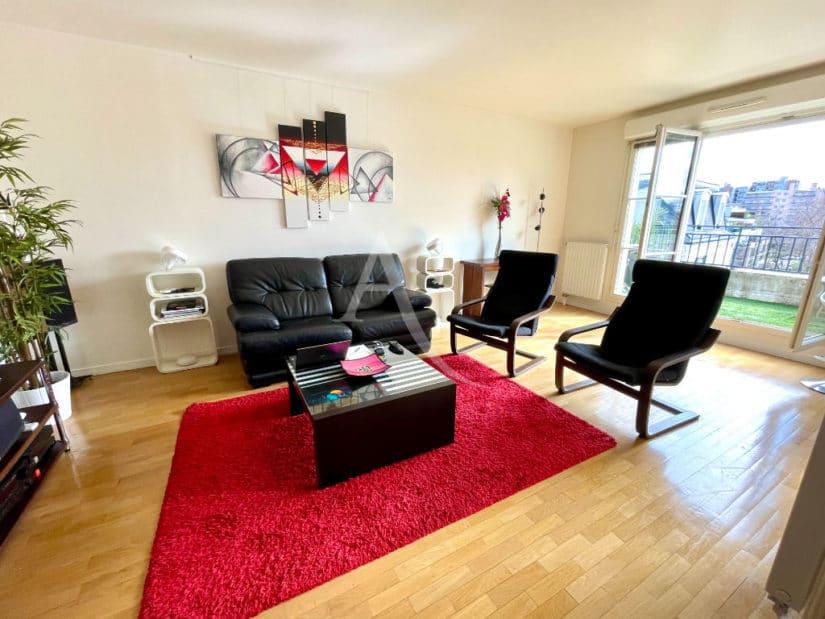 vente appartement maisons-alfort: 3 pièces 68 m², séjour avec terrasse de 7 m²
