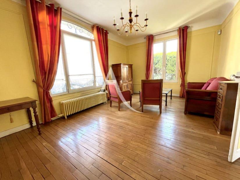 maison maisons alfort: 6 pièces 120 m², beau séjour avec parquet en chêne, chemniée