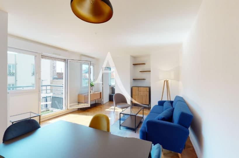 agence de location appartement: 2 pièces 50 m² meublé, séjour spacieux et lumineux avec balcon, proche rer d