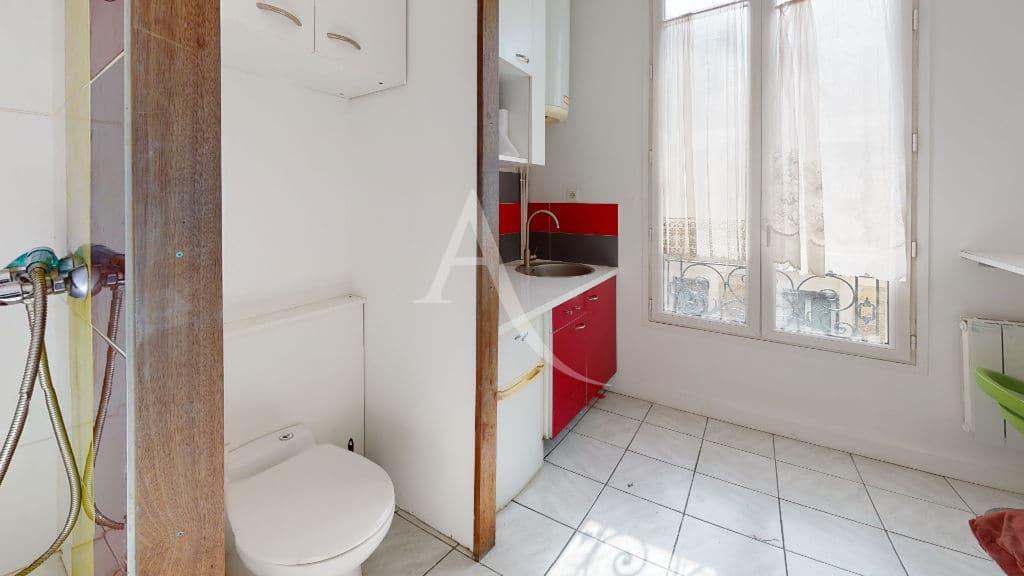 agence alfortville: studette 9 m² meublée tout confort, douche et toilettes
