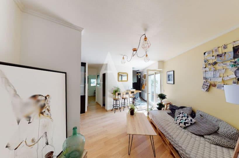 agence immobilière val de marne: 3 pièces 54 m², entrée séjour donnant sur terrasse et jardin, cave, parking