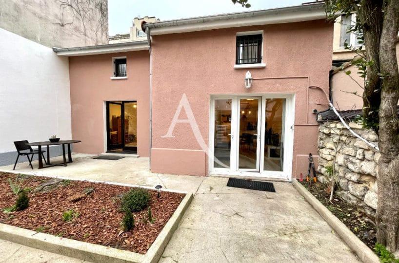 maison a vendre charenton le pont: 3 pièces + studio indépendant avec terrasse et jardin