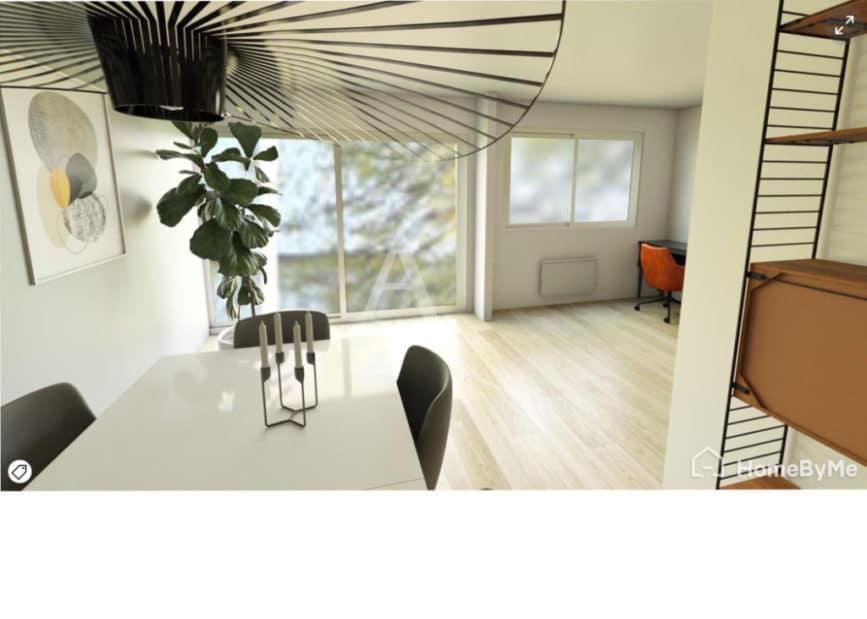 vente appartement maisons alfort: 4 pièces 84 m², proposition non contractuelle de rénovation du séjour
