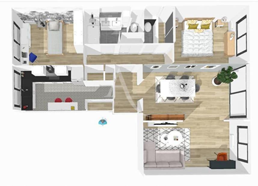agence immo maisons alfort: 4 pièces 84 m², plan de l'appartement