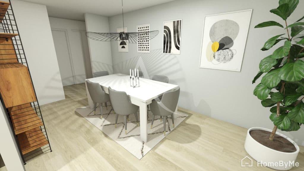 appartement à vendre maisons-alfort: 4 pièces 84 m², proposition non contractuelle de rénovation du double séjour