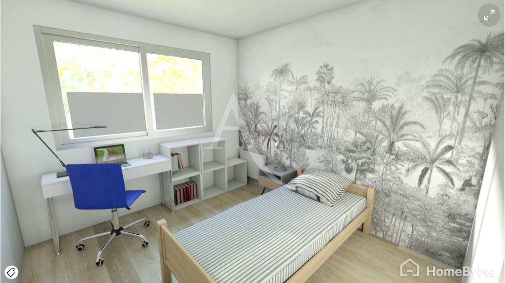 vente appartement maisons-alfort: 4 pièces 84 m², proposition de rénovation de la chambre (non contractuelle)
