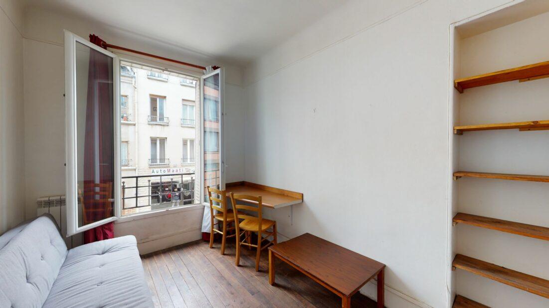 agence location immobiliere propose studio 20 m² meublé refait à neuf à Montreuil, aperçu pièce principale