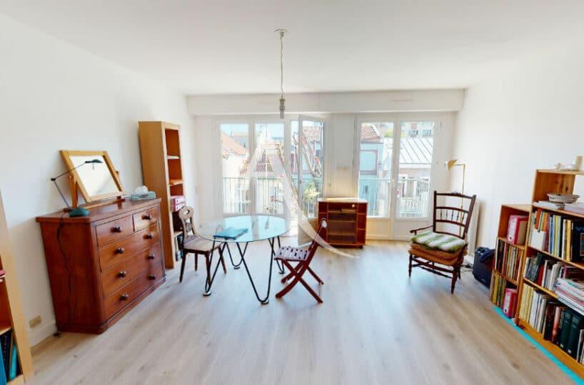 achat appartement alfortville: 3 pièces 65 m² traversant, séjour avec balcon, parking et cave, quartier mairie