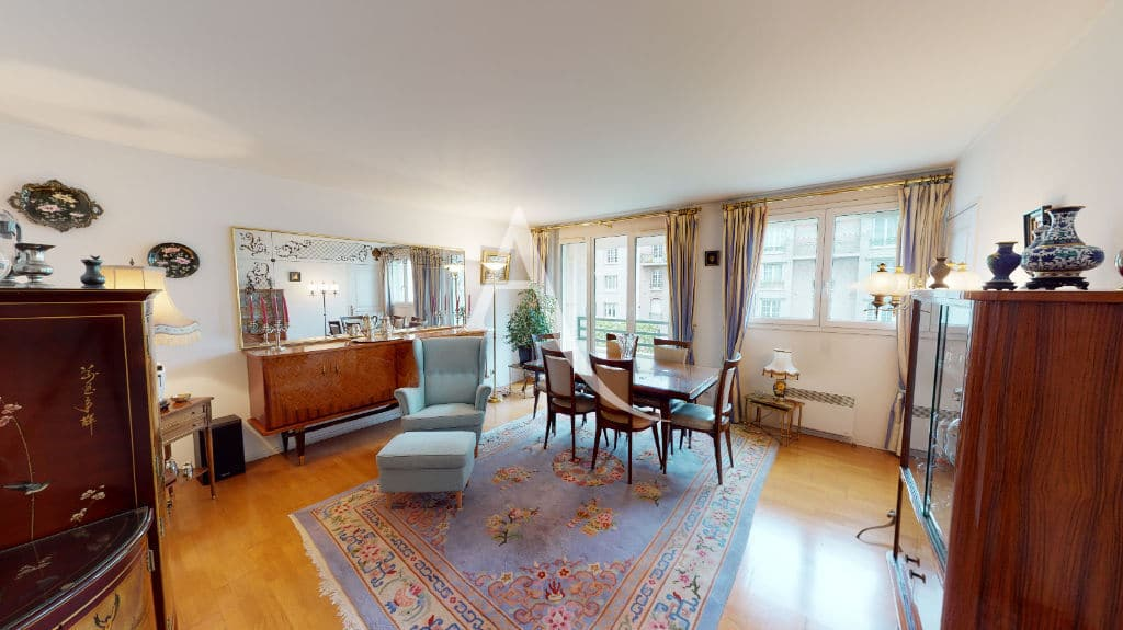 appartement charenton le pont: 4 pièces 83 m², pièce à vivre donnant sur balcon