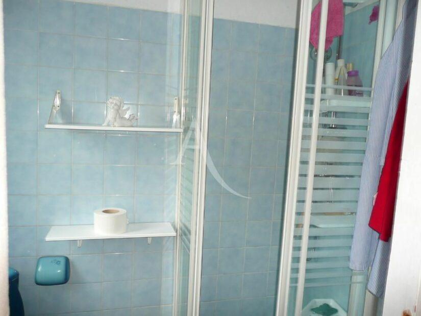 studio à vendre à charenton: 26 m², salle d'eau avec douche et étagères