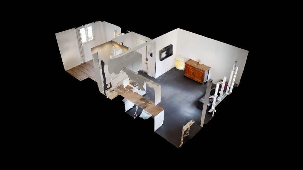 appartement à vendre à charenton le pont: 2 pièces 33 m² bien agencé, plan en 3d