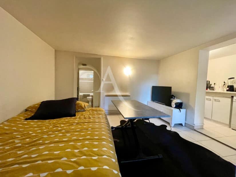 achat appartement alfortville: 20 m², pièce à vivre avec cuisine ouverte