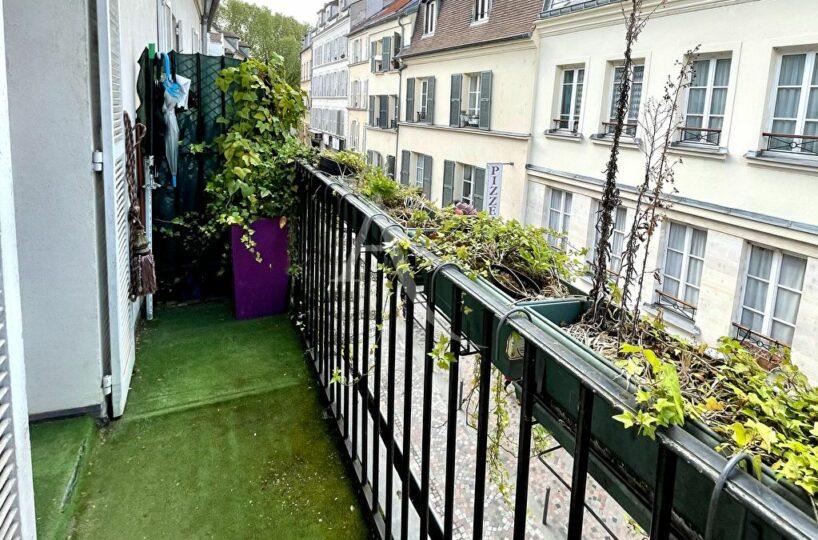 appartement charenton le pont: 2 pièces en duplex 38 m² avec grand balcon donnant sur petite rue calme