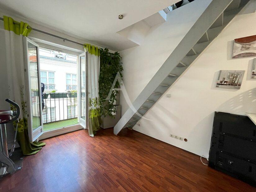 achat appartement charenton le pont: duplex 2 pièces 38 m², séjour avec grand balcon