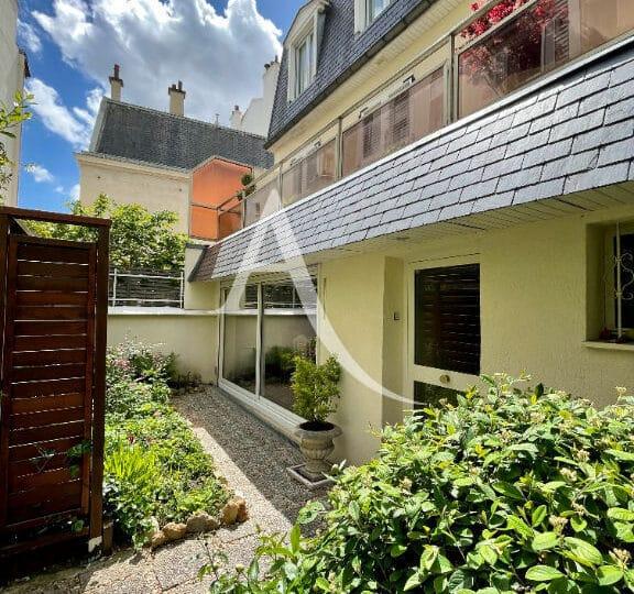 agence immobilière val de marne: 4 pièces 90 m² avec jardin de 20 m², terrasse et cave, secteur saint maurice