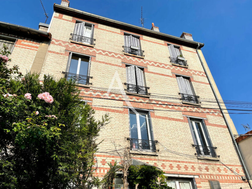 vente appartement maison alfort: 2 pièces 35 m², petit immeuble en briques des années 30