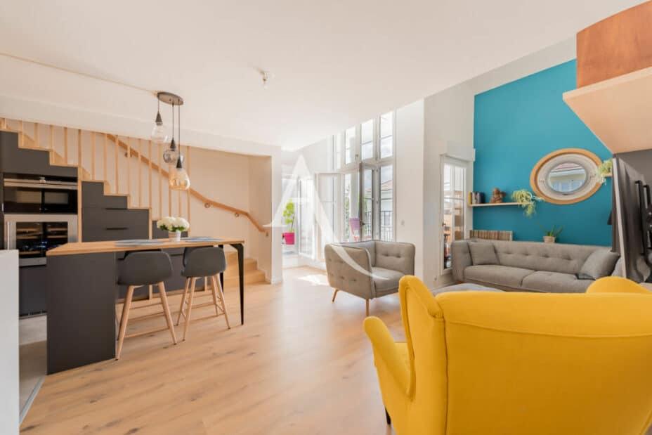 appartement à vendre maisons-alfort: 4 pièces 91 m², séjour lumineux avec terrasse