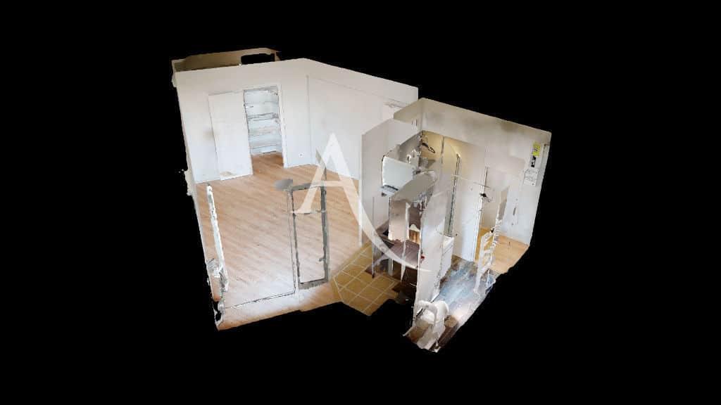 location appartement maison alfort: 27 m² bien agencé et entièrement rénové, plan en 3d